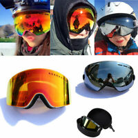 Ski Goggles With Case Double Lens UV400 Anti-fog Ski Snow Glasses Skiing Goggle