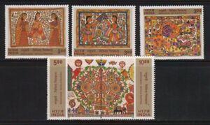 India 2000 Madhubani Mithila Paintings Art Hindu Mythology Stamps 5v MNH