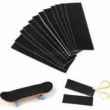 12 Pcs Wooden Fingerboard Deck Uncut Black Foam Grip Tape Stickers 110mm x 35mm