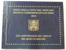 """Vatikan, 2-Euro Gedenkmünze 2014 """"25. Jahrestag des Falls der Berliner Mauer"""""""