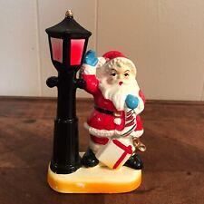 Vintage Santa Claus Street Lamp Lantern Christmas Marked Japan