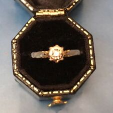 Diamond Solitaire Ring Vintage 9ct Gold Women's Size J Stamped Weight 1.79g
