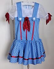 Rubie's Wizard of Oz Dorothy Red Sparkle Bow Dress Halloween Costume Girls sz M