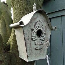 Decorative Metal Birdhouse, Vintage Style Garden Decoration