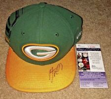 AARON RODGERS SIGNED GREEN BAY PACKERS ON FIELD NEW ERA HAT JSA