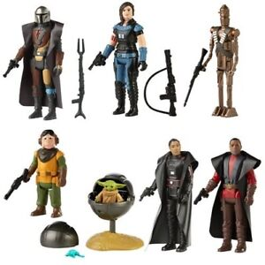 """Star Wars Mandalorian Retro Collection 3.75"""" Wave#1 LOT OF 8 FIGURES PREORDER"""