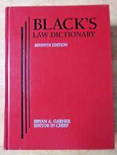 Black's Law Dictionary Seventh Edition Bryan Garner 1999
