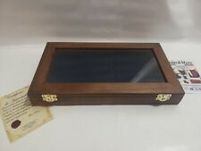 Cofanetto espositore in legno per coltelli Wood Display Case for Knives Coins
