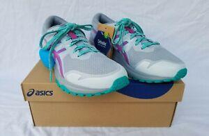 New Women's Asics Gel Scram 6 Trail Running Shoes 1012A730-024 Grey/Grape
