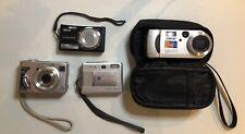 Lot of 5 Digital Cameras Minolta, Sony, Nikon, Olympus
