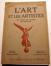ART DECO/L'ART ET LES ARTISTES/1921/N°20/C.MERYON/PAUL HELLEU/