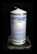 Baby Boy  Memorial  candle with poem  Blue  design  #6