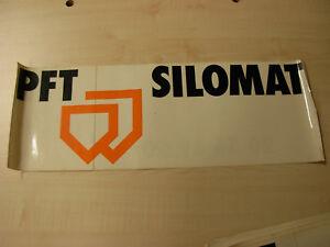 Aufkleber für PFT Silomat Förderanlage