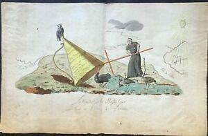 """""""Le Coucher de la Basse Cour..."""" French Revolutionary Caricature/Révolution 1795"""