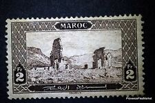 1917 COLONIES FRANÇAISES MAROC 2F Yt 77 bis RUINES DE VOLUBILIS NEUF *