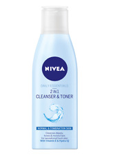 3 X Nivea Daily Essentials 2-in-1 Cleanser and Toner, 200 ml - Pack of 3