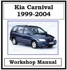 KIA CARNIVAL 1999 - 2004 PETROL & DIESEL WORKSHOP MANUAL DIGITAL DOWNLOAD