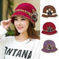 Women Slouch Baggy Winter Warm Soft Knit Wool Crochet Beanie Hat Beret Ski Cap