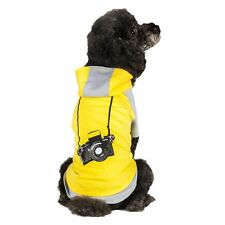 Costumes Blueberry Pet Cotton Dog Camera Hoodie in Grey Yellow, Back Length 16in