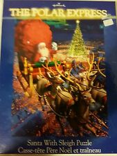 THE POLAR EXPRESS SANTA WITH SLEIGH 300 PIECE JIGSAW PUZZLE COMPLETE.