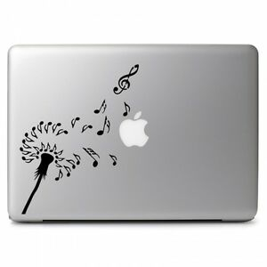 Dandelions Note Music Fly Vinyl Decal Sticker for Macbook Air Pro Laptop Car Art