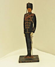 Military WW1 The 15th XV The King's Hussars Wooden Painted Figure Uniform (4796)