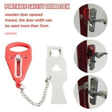 2Portabl Door Lock - Hardware Safety Security Tool for Home Privacy Travel Hotel