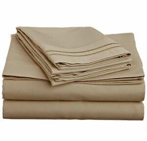 Bamboo Microfiber Organic Cool Bed Sleep Soft Full Queen King 4 Piece Sheet Set