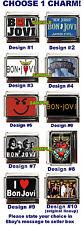 Bon Jovi Custom Italian Charm Smirk, I love, Photo, Logo, New Jersey Plate