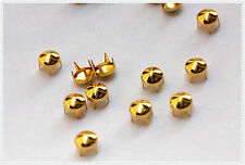 300pz  Borchie sfuse a cono con alette 6mm color oro*300pz color gold CONE STUDS