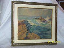 Seascape Original Oil On Panel Antique Painting Framed