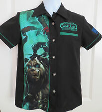 World of Warcraft Blizzard Employee Button Front Shirt MISTS OF PANDARIA Size XS