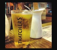 4 X THATCHERS CIDER PINT GLASSES