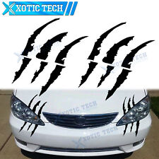 "2X 9.4"" Monster Claw Marks Reflective Stickers Headlight Decor For Toyota Camry"