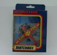 Vintage Matchbox Diecast Skybusters SB-26 Cessna Float Plane Fire Red 1987 Boxed