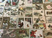 ~Estate~Lot of 30~CHRISTMAS & NEW YEAR'S~BIRDS~ Vintage BIRD Postcards-a-79