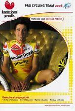 CYCLISME carte  cycliste FRANCISCO JOSE VENTOSO ALBERDI équipe SAUNIER DUVAL