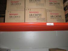 ARC26TCU/YU/MU-Genuine Sharp ARC260M/260P, 3 Color Toners Rainbow Set CYM, OEM