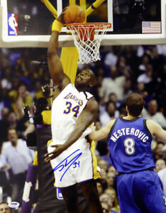 SHAQUILLE SHAQ O'NEAL AUTOGRAPHED SIGNED 16X20 PHOTO LAKERS PSA/DNA 107878