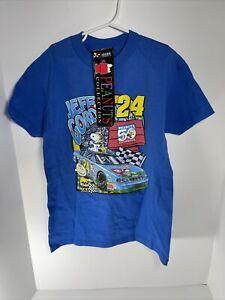 Vintage Jeff Gordon Peanuts Snoopy Shirt  Youth Med 2000 50th Anniversary Nascar