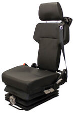 Black Vinyl Mechanical Suspension Seat for Mining...