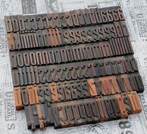 a-z Alphabet Holzbuchstaben 54mm Lettern Vintage Industrie Art Deco Nouveau