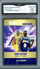 GMA 10 Gem Mint KOBE BRYANT 1996/97 Rookie Phenoms GOLD Platinum ROOKIE CARD