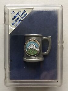 1982 Yosemite National Park Collector's Miniature Tankard Genuine Pewter in Box