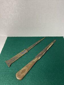 German Ges. Gesch Antique Brass Letter Opener Lot