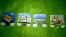 Lot de 4 plaques de bateaux en métal Huilor - Samo - ....