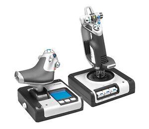 Logitech G X52 Hotas Throttle and Flight Stick Flight Control System In Box