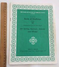 Original Dress Sewing Patterns 1940/50's Fashion HASLAM Book of Draftings No 37