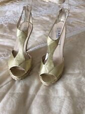 L K Bennett Gold Platform Shoes Size 4.5