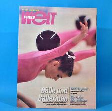 Freie Welt 21/1987 Sportgymnastik Raumfahrtschule Warschau China Erich Honecker